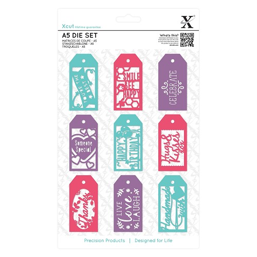 A5 Die Set (10pcs) - Everyday Gift Tag Set