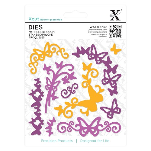 Dies (10pcs) - Butterfly Flourish