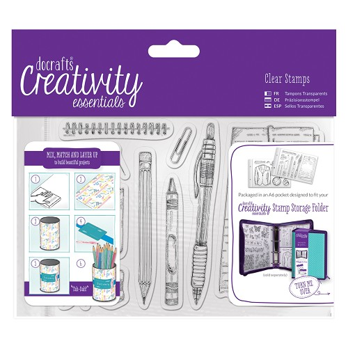 A6 Clear Stamp Set (12pcs) - Stationery