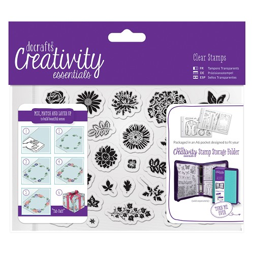 A6 Clear Stamp Set (30pcs) - Trad Floral