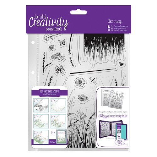 A5 Clear Stamp Set (15pcs) - Meadow