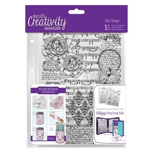 A5 Clear Background Stamp (1pc) - Musicality