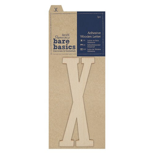 Adhesive Wooden Letter X (1pc)