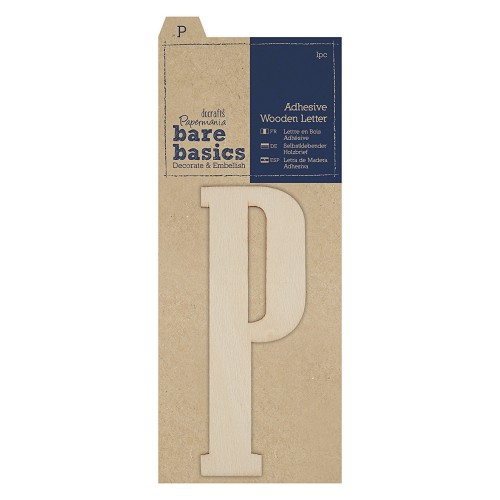 Adhesive Wooden Letter P (1pc)