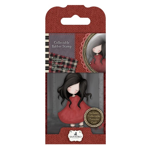 Mini Rubber Stamp - Santoro - No. 18 Poppy Wood