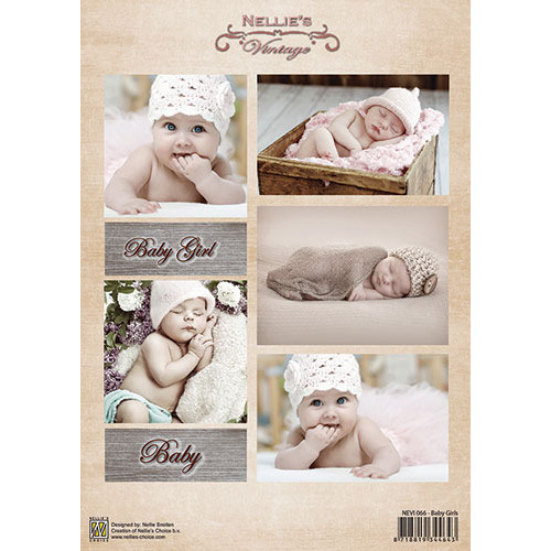 Decoupage sheet vintage - Baby girls