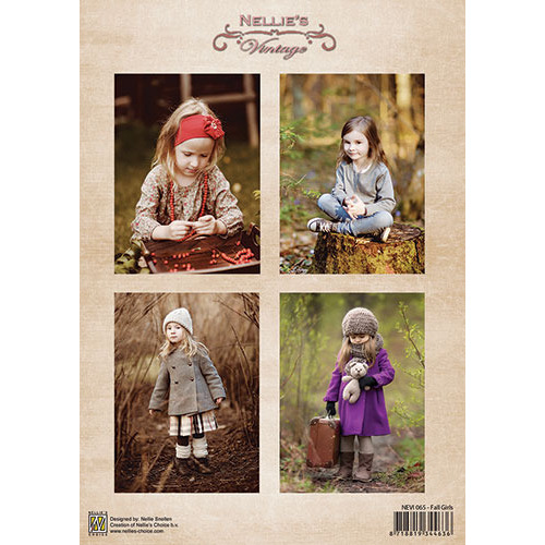Decoupage sheet vintage - Fall Girls