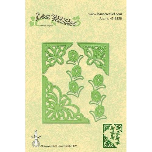 Lea bilitie® Corner flowers snij en embossing mal