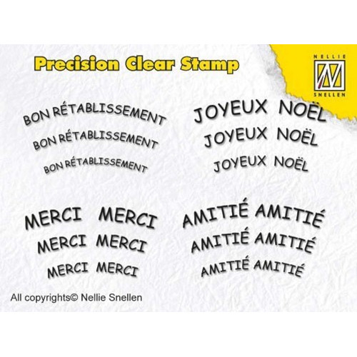 nellie snellen- precision clear stamp - french text 1