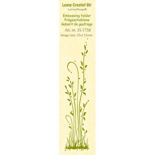 Border embossing folder Grass long 25x112mm