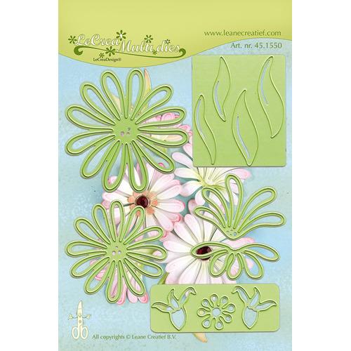 Lea'bilitie® Multi die flower 9 Chrysant  snij en embossing mal