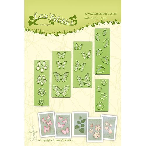 Lea'bilitie® small Butterflies & Flowers  snij en embossing mal