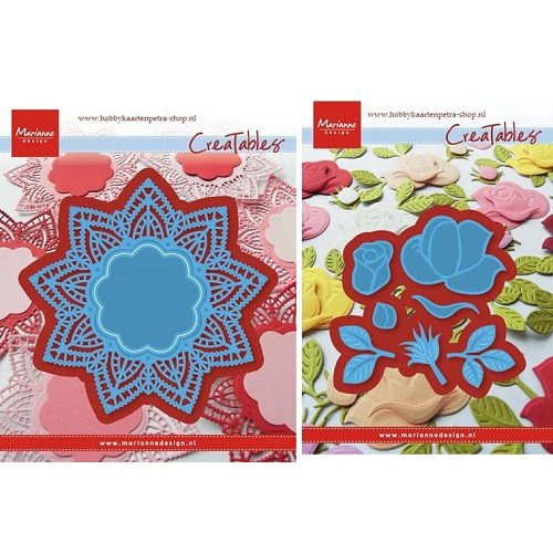 Marianne Design set Doily Star+Build-a-rose