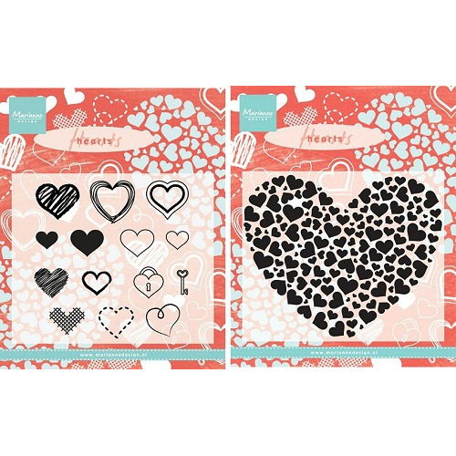 Marianne Design set  Border Set Heart +Heart XL