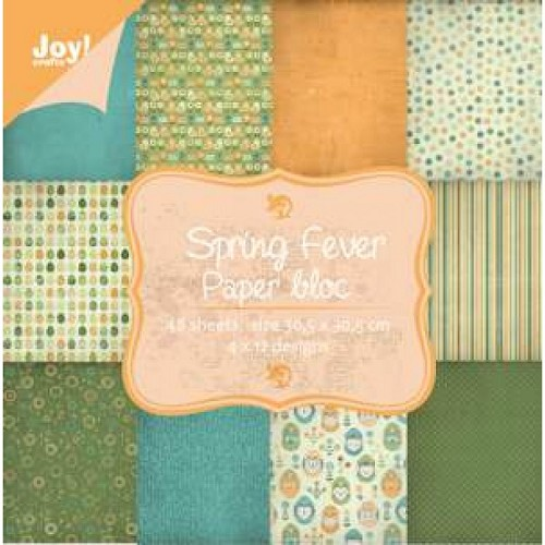 JOY!Crafts  papierblok 30 x 30 cm spring fever