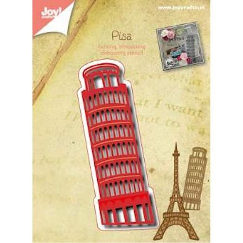 JOY!Crafts stencil toren van PIsa