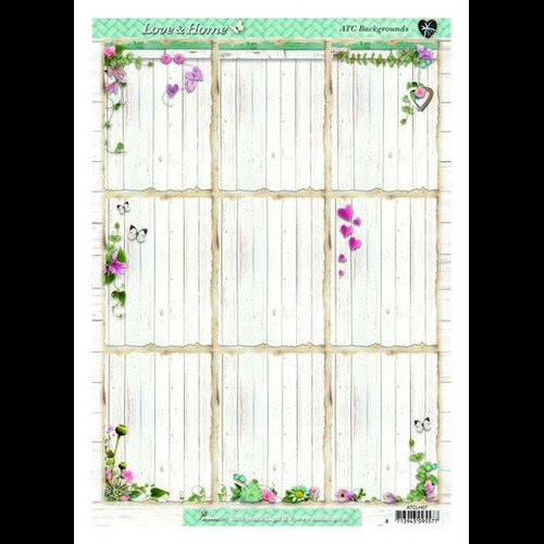 Studio Light ATC Cards vel A4 Love & Home 07 ATCLH07 (new 01-16)