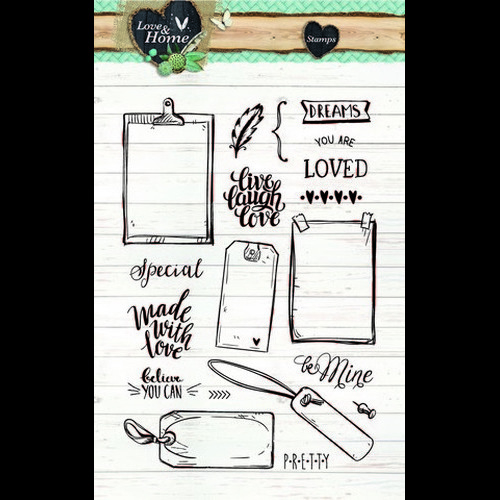 Studio Light Clearstempel A6 Love & Home 126 STAMPLH126 (new 01-16)