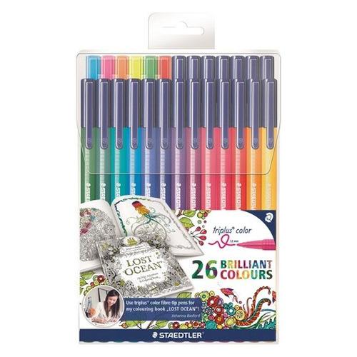 Staedtler Triplus color kleurstift Johanna Basford etui 26kl (20+6) 323 TB26JB
