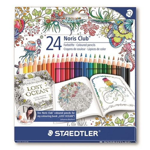 Staedtler Noris Club Johanna Basford kleurpotlood set 24 st. 144 C24JB