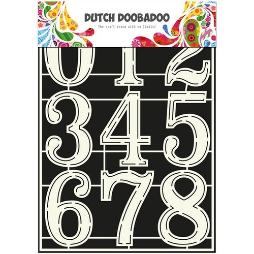 Dutch Doobadoo Dutch Stencil Art stencil Nummers 2 A4 470.715.805 (new 01-16)