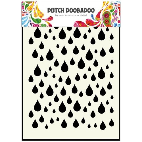 Dutch Doobadoo Dutch Mask Art stencil Regendruppels A6 470.741.002 (new 01-2016)