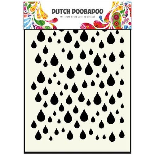 Dutch Doobadoo Dutch Mask Art stencil Regendruppels A6 470.741.002 (new 01-2016)