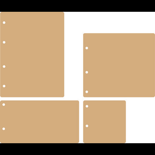 Dutch Doobadoo Dutch MDF art - Mini Album Rectangle 460.440.250 (01-16) 200x150mm