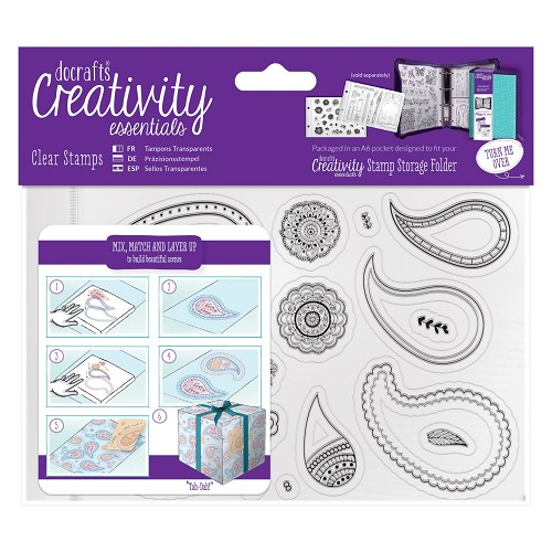 A6 Clear Stamp Set (20pcs) - Paisley