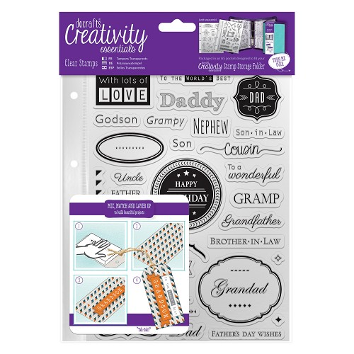 A5 Clear Stamp Set (36pcs) - Male Family