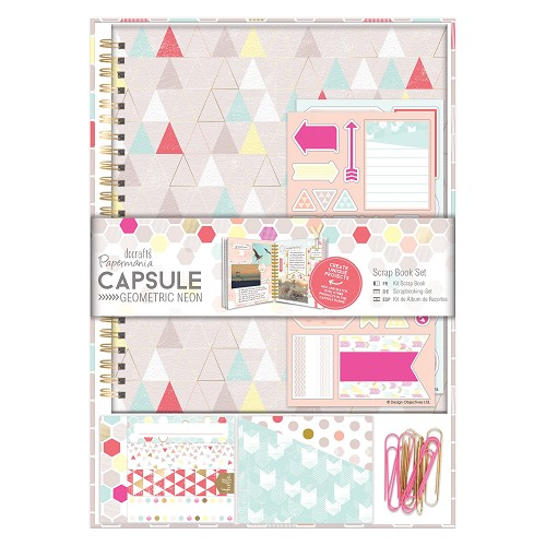 Scrap Book Set - Capsule - Geometric Neon