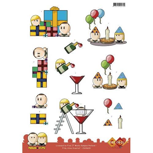 3D Knipvel - Pascal en Aline -  Partytime