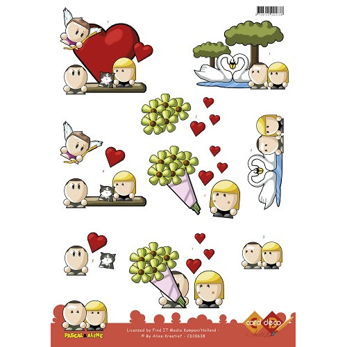 3D Knipvel - Pascal en Aline -  Valentine