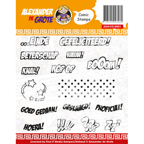 Clear Stamp - Alexander de Grote - Comic Cards