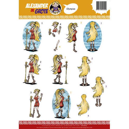 3D Knipvel - Alexander de Grote - Olympia