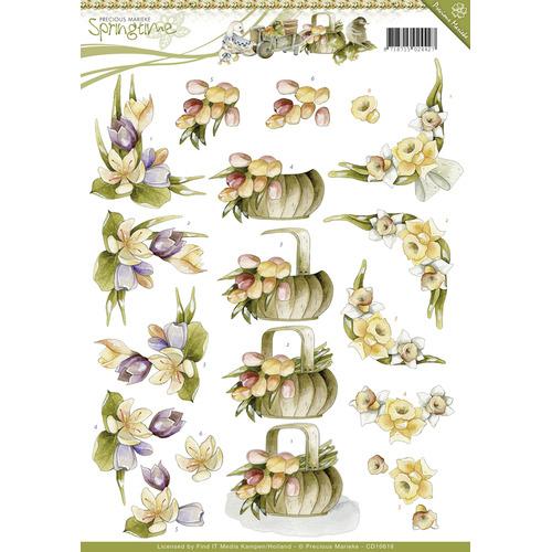 3D Knipvel -  Precious Marieke - Springtime - Spring flowers