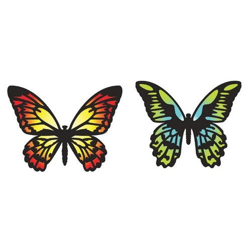 Sizzix Thinlits Die Set 4PK - Detailed Butterflies 661182 Tim Holtz ( new 02-16 )
