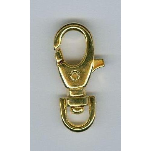 Karabiner met draaibaar oog 35mm goud 12032-4702