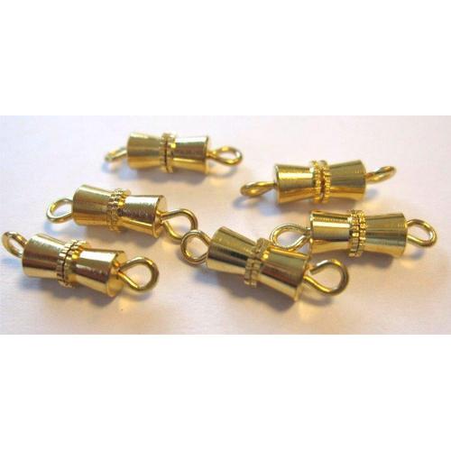 Schroefsluiting goud Bow 10MM 6 ST 11808-1222