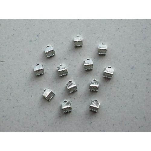Koordsluiting klem met oog 6x6mm platinum 12ST 12319-1901
