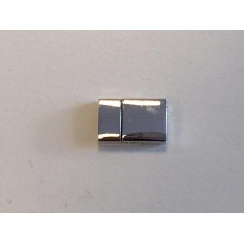 Magneetsluiting plat platinum 24x15mm (gat 4x13mm) 1 ST 12333-3311