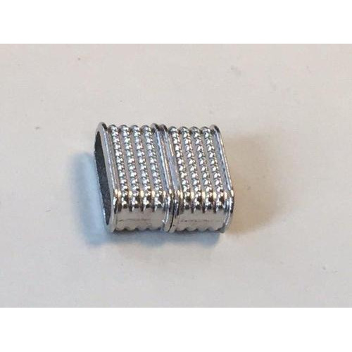 Magneetsluiting plat platinum 14x7mm (gat 95x35MM) 1 ST 12341-4121