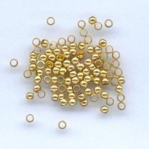 Knijpkraal rond goudkleur 2,5MM 100 ST 12024-0032