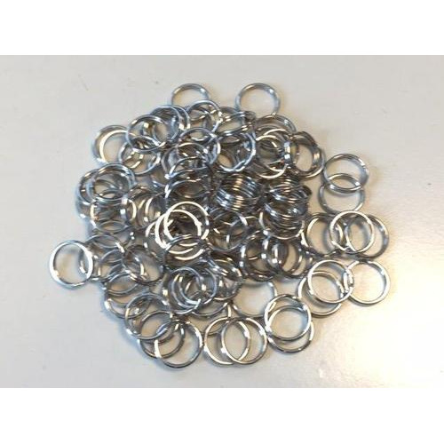 Key Rings 15mm platinum 100 ST polybag 12335-3502