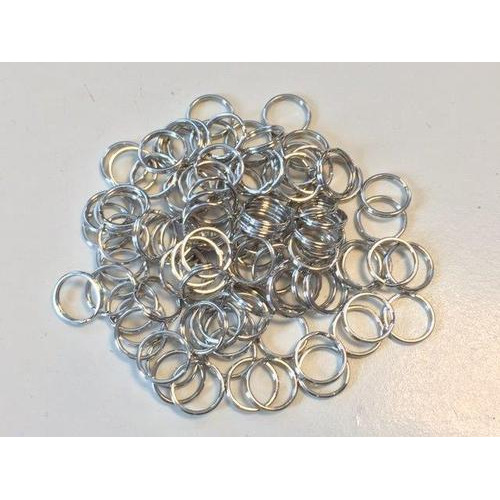 Key Rings 18mm platinum 100 ST polybag 12335-3503