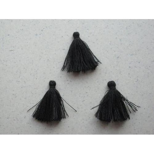 Kwastjes-tassel zwart 3CM 3 ST 12317-1701