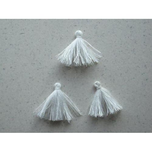 Kwastjes-tassel wit 3CM 3 ST 12317-1702