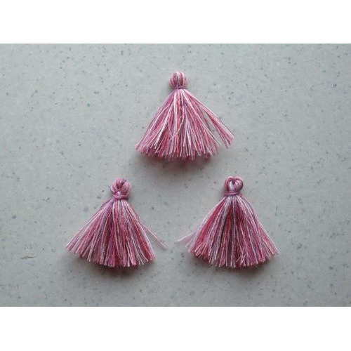 Kwastjes-tassel tinten roze 3CM 3 ST 12317-1703