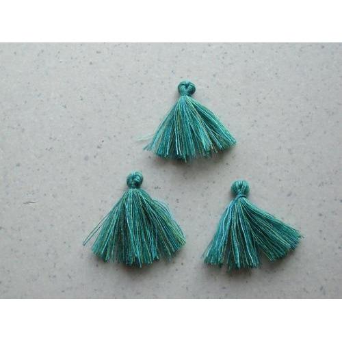 Kwastjes-tassel tinten groen 3CM 3 ST 12317-1704