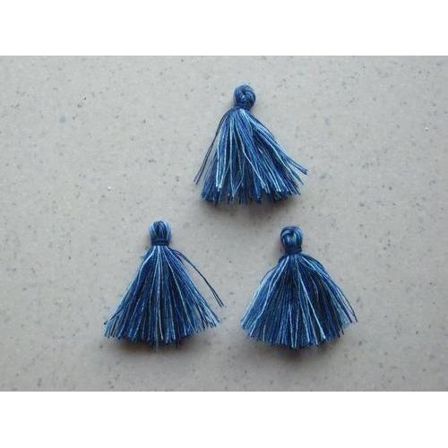 Kwastjes-tassel tinten blauw 3CM 3 ST 12317-1705